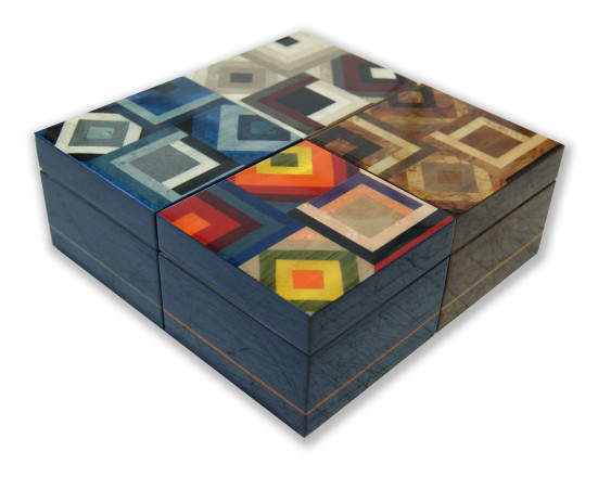 Inlaid wood jewelry box – New Collection 2018